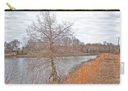 Winter Tree On Pond Shore Carry-all Pouch