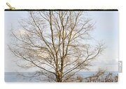 Winter Tree On Shore Carry-all Pouch
