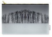 Winter Tree Symmetry Long Horizontal Carry-all Pouch