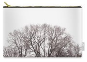Winter Trees Monochrome Carry-all Pouch