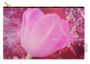 Winter Tulip Red Theme Snow Carry-all Pouch