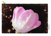 Winter Tulip With Gold Snow And Stars Carry-all Pouch
