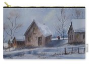 Winter Walk, Watercolor Painting Carry-all Pouch