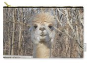 Winter White Alpaca Carry-all Pouch