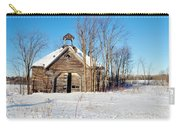 Winter Wisconsin Barn Carry-all Pouch