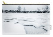 Winter Wonderland Bw Carry-all Pouch