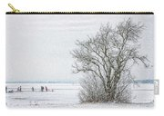 Winter Wonderland Frozen Lake Carry-all Pouch