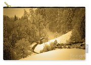 Winter Wonderland In Switzerland - Up The Hills Carry-all Pouch