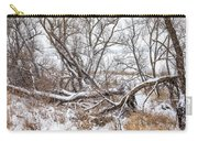 Winter Woods On A Stormy Day 2 Carry-all Pouch