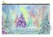 Winter Wonderland Aurora Borealis  Carry-all Pouch
