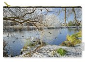 Wintry River At Newton Road Park Carry-all Pouch