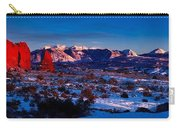 Wintry Sunset Glow  Carry-all Pouch