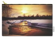 Wintry Sunset Reflections Carry-all Pouch