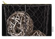 Wire Basket And Balls Still Life Carry-all Pouch