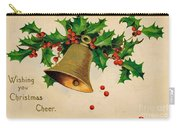 Wishing You Christmas Cheer Vintage Greetings Card Carry-all Pouch