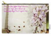 God Is The Light Inspirational Floral Still Life Carry-all Pouch