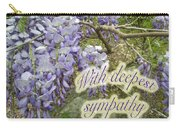 Wisteria Sympathy Card Carry-all Pouch