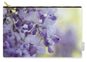 Wisteria's Soft Floral Whispers Carry-all Pouch
