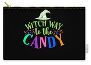 Witch Way To The Candy Halloween Funny Humor Colorful Carry-all Pouch