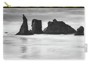 Wizard's Hat Sea Stack - Black And White Carry-all Pouch