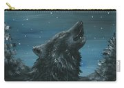 Wolf And The Stars Carry-all Pouch