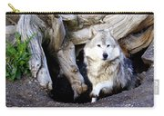 Wolf Den 1 Carry-all Pouch by Marty Koch