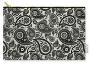 Wolf Gray Paisley Design Carry-all Pouch
