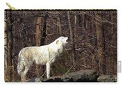 Wolf Howling In Forest Carry-all Pouch