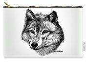 Wolf In Pencil Carry-all Pouch