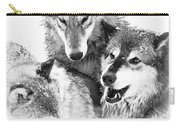 Wolf Triplets Carry-all Pouch