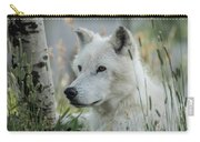 Wolf, White Carry-all Pouch