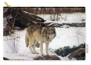 Wolfe In Winter Snow Carry-all Pouch