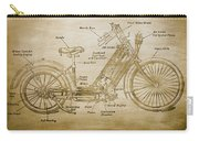 Wolfmueller Motor Cycle 1894 Carry-all Pouch