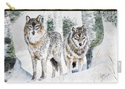 Wolves In The Birch Trees  Carry-all Pouch
