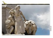 Woman And Bull, Marquis De Pombal Monument Carry-all Pouch