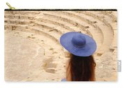 Woman At Greco-roman Theatre At Kourion Archaeological Site In C Carry-all Pouch