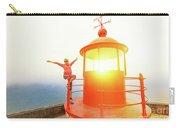 Woman At Nazare Lighthouse Carry-all Pouch