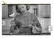 Woman Baking In Kitchen, C.1960s Carry-all Pouch