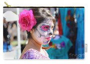 Woman Beautiful Day Of The Dead  Carry-all Pouch