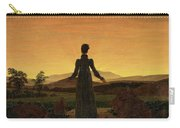 Woman Before The Rising Sun Woman Before The Setting Sun1818-20  By Caspar David Friedrich 1774 Carry-all Pouch