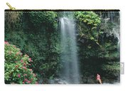 Woman Beneath Waterfall Carry-all Pouch