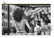 Woman Carry Dog Nyc Blk Wht  Carry-all Pouch