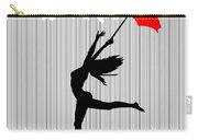 Woman Dancing In The Rain With Red Umbrella Carry-all Pouch