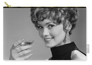 Woman Drinking Champagne, C.1960s Carry-all Pouch