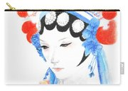 Woman From Chinese Opera With Tattoos -- The Original -- Asian Woman Portrait Carry-all Pouch