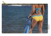 Woman Getting Ready To Go Snorkeling Carry-all Pouch