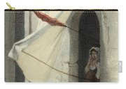 Woman In A Doorway. Rome Carry-all Pouch