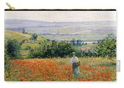 Woman In A Poppy Field Carry-all Pouch