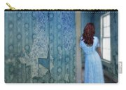 Woman In Abandoned House Carry-all Pouch by Jill Battaglia