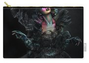 Woman In Black Gown And Headdress In Body Paint Carry-all Pouch